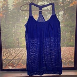 Comfy sports tank with mesh overlay